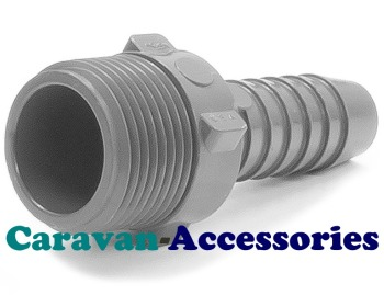 """STR5012 Threaded to Barbed Straight Water Fitting (1/2"""" BSP Male to 1/2"""" (12mm) Barb)"""