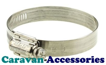 """HC4 32-50mm (1 1/4""""-1 1/2"""") Zinc Plated Steel Jubilee Clip Screw Tighten"""
