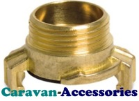 "HFQBT100 Brass 1"" Male BSP Thread For (HFQB) Quick Connect Water Fittings"