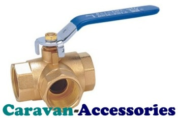 "TWV050B Brass 12mm (1/2"") 3-Way Ball Valve Female Threaded Connections"