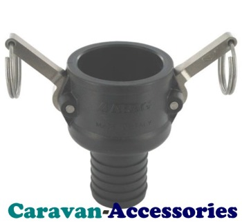 """QCF40 40mm (1 1/4"""") Barbed To Mega Drain Quick Connect (Female)"""
