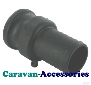 """QCM40 40mm (1 1/4"""") Barbed To Mega Drain Quick Connect (Male)"""