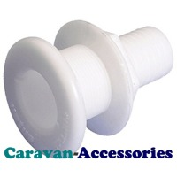 "WSF5204 25mm (1"") Non-Corrosive Acetal Marine Skin Fitting"