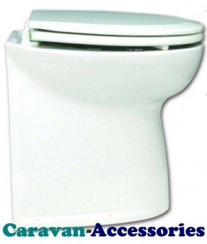 "JM58040-2012 JABSCO Deluxe Flush 17"" Straight Back Electric Toilet - 12 Volt - With Solenoid"