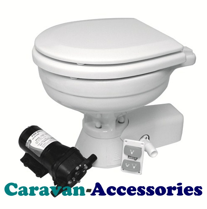 JM37245-1092 JABSCO Quiet Flush Electric Toilet Uses Sea Or River Water To