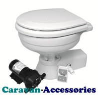 JM37245-1092 JABSCO Quiet Flush Electric Toilet Uses Sea Or River Water To Flush - 12 Volt