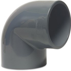 RW32ELB Rigid Waste Mega Elbow 90° PVC-U 32mm glue socket 16bar grey