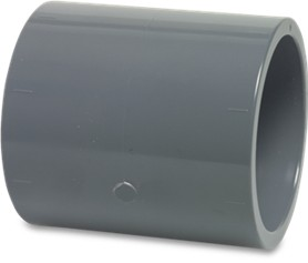 RW32STR Rigid Pipe Mega Socket PVC-U 32mm glue socket 16bar grey