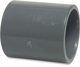 "RW40114STR Rigid Waste Mega Transition socket PVC-U 40 mm x 1 1/4"" glue socket x imperial glue socket 16bar grey"