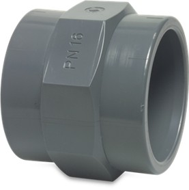 "RW40FADTH1Q Rigid Waste Mega Adaptor socket PVC-U 40 mm x 1 1/4"" glue socket x female thread 10bar grey"