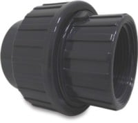 "RW40UNTH1Q Rigid Waste Mega Union coupler PVC-U 40 mm x 1 1/4"" glue socket x female thread 10bar grey"
