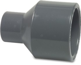 RW5040RSKT Rigid Waste Mega Reducing socket PVC-U 50/40 mm x 40 mm glue spigot/glue socket x glue socket 16bar grey