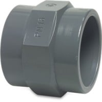 "RW50FADTH1H Rigid Waste Mega Adaptor socket PVC-U 50 mm x 1 1/2"" glue socket x female thread 10bar grey"