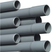 RW50P Rigid Waste Pressure Pipe PVC-U 50 mm x 2,4 mm glue socket x plain 10bar grey 5m