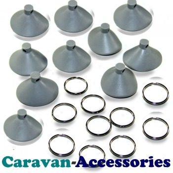 CS1010 C.A.K. Tanks 2 Part Suction Cups For DIY Thermal Screens (10 PACK)