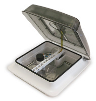 FTV28FC Fiamma Turbo Vent 28 Crystal Dome Forced-Ventilation (170mm Fan)