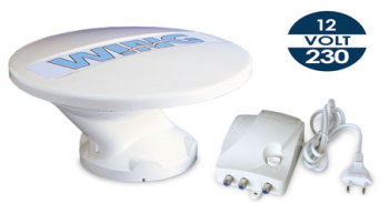 TVWNG Teleco WING Omni-Directional TV Aerial 12/24/230 Volt (inc. Adjustable Gain Amplifier)