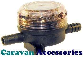 "JM46400-0002 JABSCO Water Pump Inlet Strainer 15mm (1/2"") Hose Barb Connections"