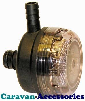 """JM46400-0012 JABSCO Direct Barbed Clip-On Pump Strainer Filter 15mm (1/2"""") For Par Max Pumps"""