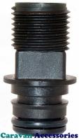 "JM30649-1000 JABSCO 12mm (1/2"") Threaded Straight Connection For Par-Max Pumps"