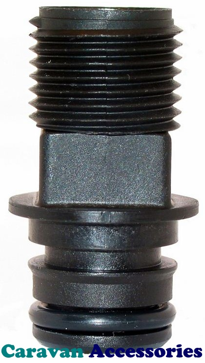 "JM30649-1000 JABSCO 12mm (1/2"") Threaded Straight Connection For Par-Max Pumps"