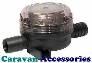 "JM46400-0000 JABSCO Toilet Pump Inlet Strainer 20mm (3/4"") Hose Barb Connections"