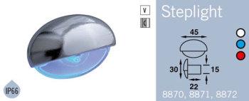 LFR8871CBLU FRILIGHT Steplight LED Courtesy Light 12 Volt (BLUE LIGHT) Single LED IP66