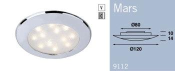 LFR9112C FRILIGHT Mars Recessed Wall or Ceiling Light 12 Volt 12SMD