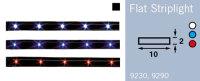 LFR9230 FRILIGHT Flat Striplight 300mm LED Tape High Gloss Black 12 Volt (WHITE LIGHT) 12LED IP64