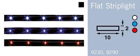 LFR9230 FRILIGHT Flat Striplight 300mm LED Tape High Gloss Black 12Volt (WH