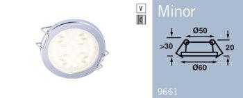 LFR9661C FRILIGHT Minor LED Recessed Spring Mount Light 12 Volt 36SMD