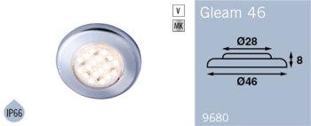 LFR9680MC FRILIGHT Gleam 46 LED Flush Mount Downlight 12 Volt 18SMD IP66