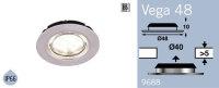 LFR9688BS FRILIGHT Vega 48 LED Circular Recessed Rubber Mount 12 Volt 18SMD IP66