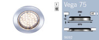 LFR9692MC FRILIGHT Vega 75 LED Circular Recessed Rubber Mount 12 Volt 36SMD IP66