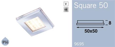 LFR9695MC FRILIGHT Square 50 Flush Mount 12 Volt 24SMD IP66