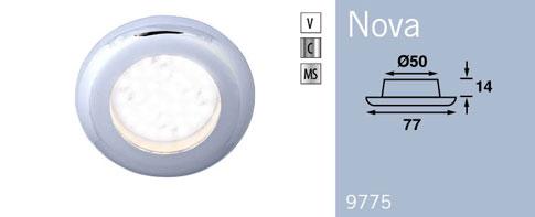 LFR9775C6 FRILIGHT Nova LED Recessed Downlight 12 Volt 6SMD