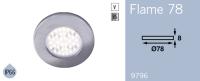 LFR9796BS FRILIGHT Flame 78 LED Flush Mount Downlight 12 Volt 36SMD IP66