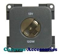 CBE MP12A/G 12 Volt Auto Socket (Grey)