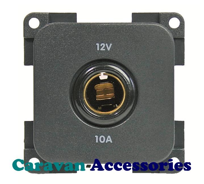 CBE MP12/G Standard 12 Volt DC Din Socket (Grey)