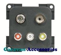 CBE MPRCA3TVS/G 3 X RCA with Satellite & TV Connectors (Grey)