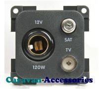 CBE MP12TVS/G DIN Socket + TV + Satellite Outlet