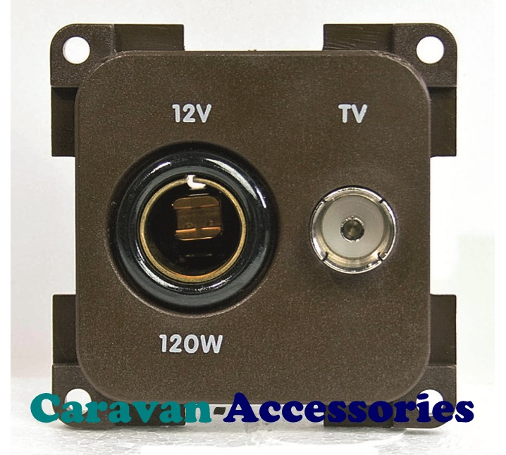 CBE MP12TV/G DIN Socket + TV Outlet (Grey)