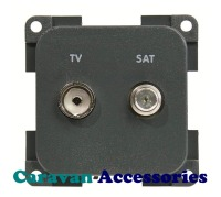 CBE MPTVS/G TV & Satellite Outlet (Grey)