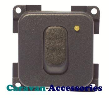 CBE MC12N/G Single On/Off Switch (Grey)