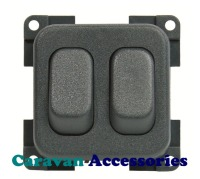 CBE MCD2N/G Twin On/Off Switch (Grey)