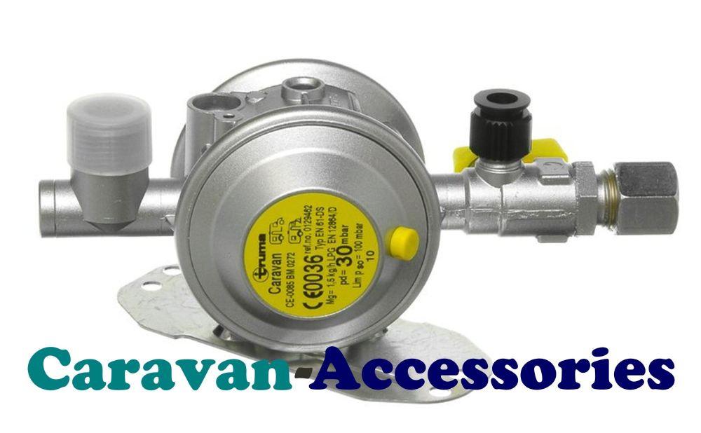 Truma 0129467 GOK 10mm Bulkhead Regulator 30mbar (Test Point & Tap)