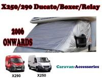 CXT08 X250 Fiat Ducato, Citroen Relay & Peugeot Boxer (2006 ONWARDS) External Zip Turn-Down Thermal Screens