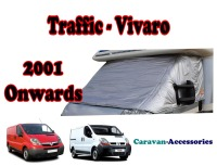 CXT07TD Renault Traffic, Vauxhall Vivaro & Nissan Primastar (2001 ONWARDS) External Zip Turn-Down Thermal Screens
