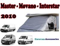 CXT10TD Renault Master, Vauxhall Movano & Nissan NV400 (2010 ONWARDS) External Zip Turn-Down Thermal Screens