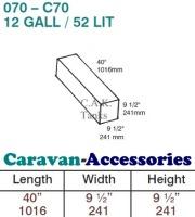 CAK-070W Waste Water Tank for Mercedes Sprinter & Volkswagen Crafter - 52 Litres - D.I.Y. Installation Kit Van to Campervan